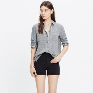 Madewell Oversized Boyshirt in mini gingham check